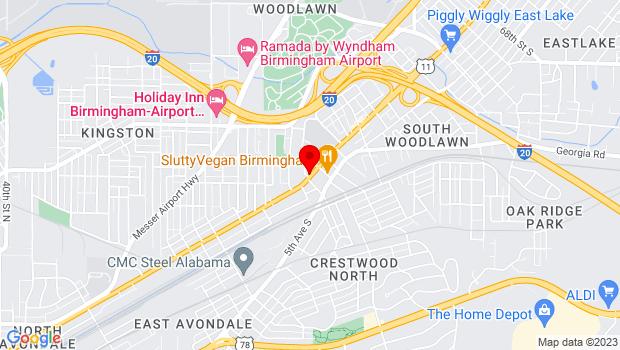 Google Map of 5502 1st Avenue North, Birmingham, AL