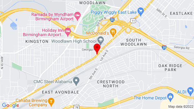 Google Map of 5502 1st Avenue North, Birmingham, AL 35212