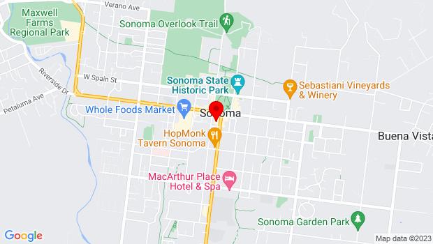 Google Map of 551 Broadway, Sonoma, CA