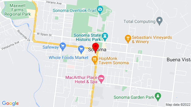 Google Map of 551 Broadway, Sonoma, CA 95476