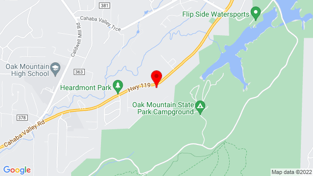 Google Map of 5521 Cahaba Valley Road, Birmingham, AL 35242