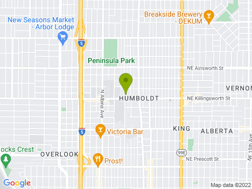5528 N Commercial Ave Map