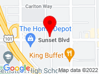 Google Map of 5547 West Sunset Blvd.