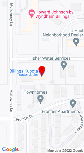 Google Map of Billings Kubota 5548 Holiday Avenue, Billings, MT, 59101