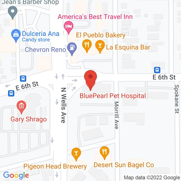 Google Map of 555 Morrill Ave., Reno, NV 89512, 555 Morrill Ave., Reno, NV 89512