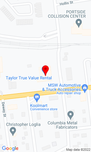 Google Map of Port Jefferson Rental Center, Inc. 555-5 Hallock Avenue Route 25A, Port Jefferson Station, NY, 11776