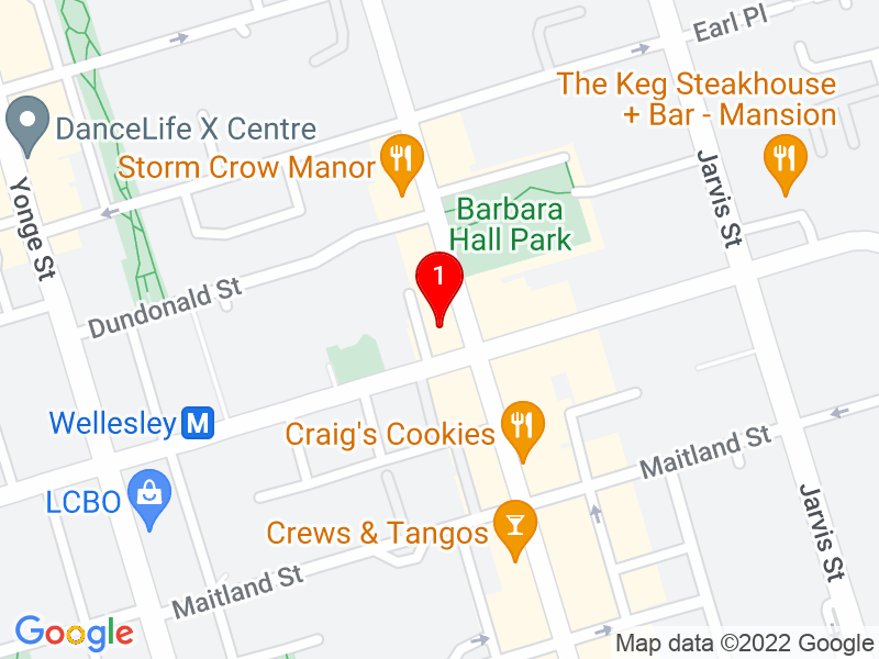 Google Map of 556 Church St, Toronto, ON