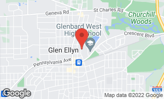Map of 557 North Park Boulevard GLEN ELLYN, IL 60137