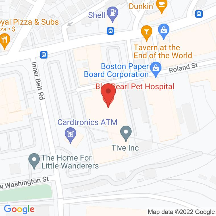 Google Map of 56 Roland St, Boston, MA 02129, 56 Roland St, Boston, MA 02129