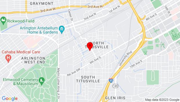 Google Map of 56 4th Ave SE, Birmingham, AL 35205