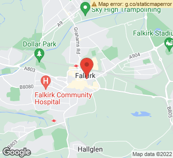 Map of Ann Baff Flowers at 10 Kerse Lane, Falkirk, Stirlingshire FK1 1RQ