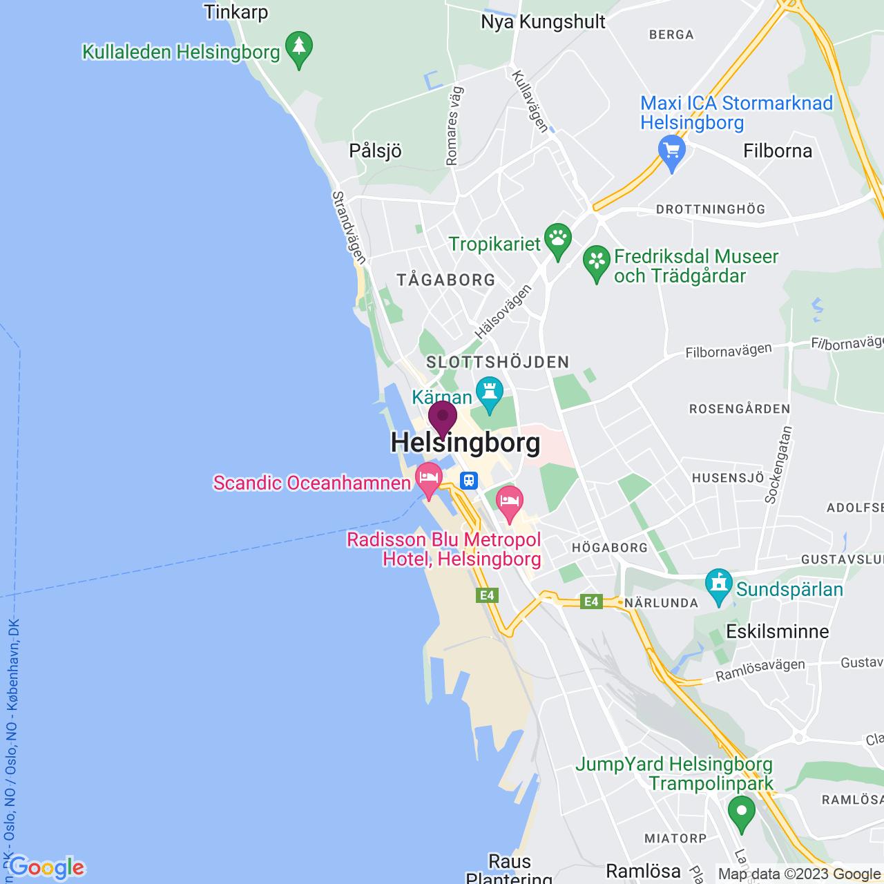 Karta över Drottninggatan 3