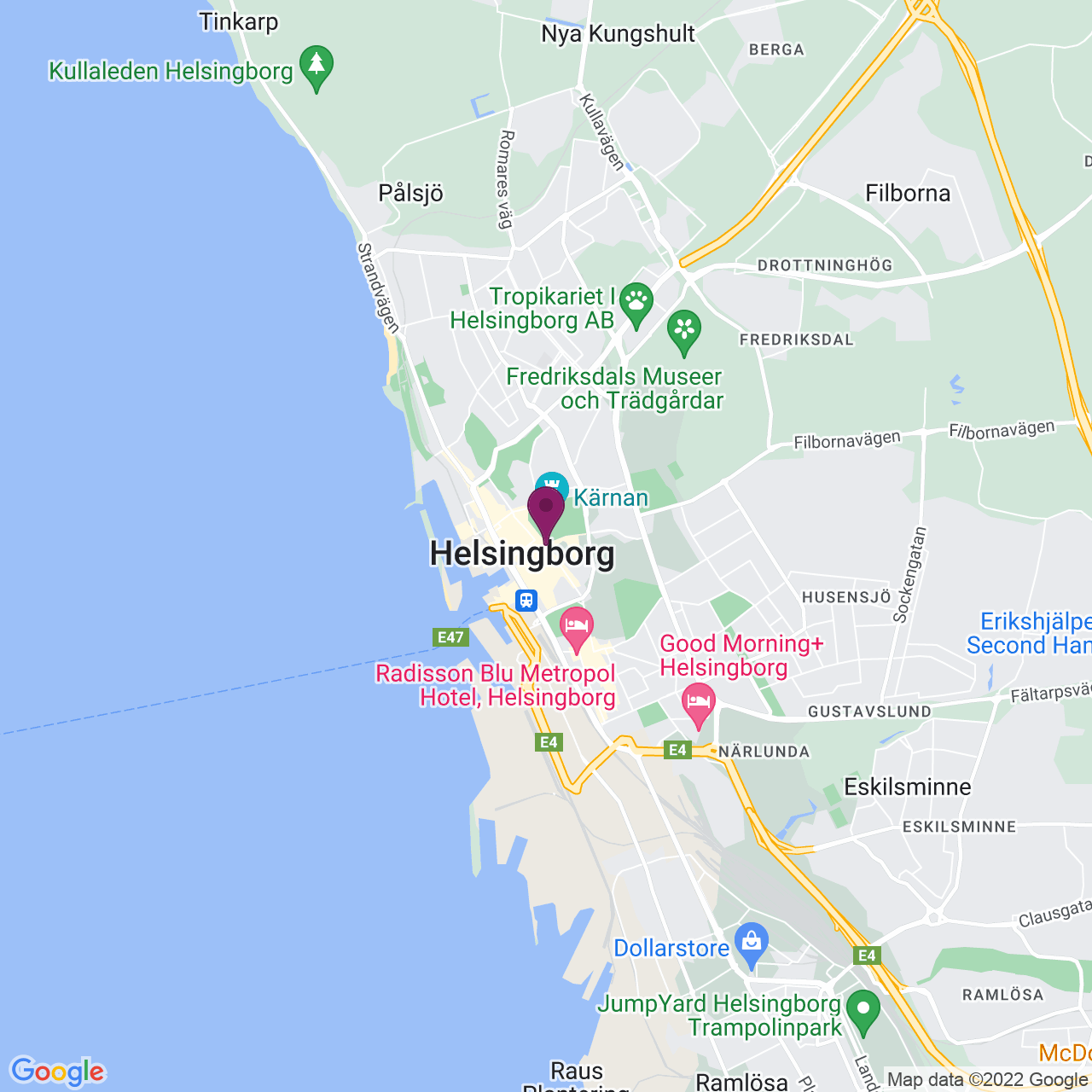 Karta över Billeplatsen 1