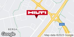 Få vägbeskrivning till Hilti-butik Helsingborg