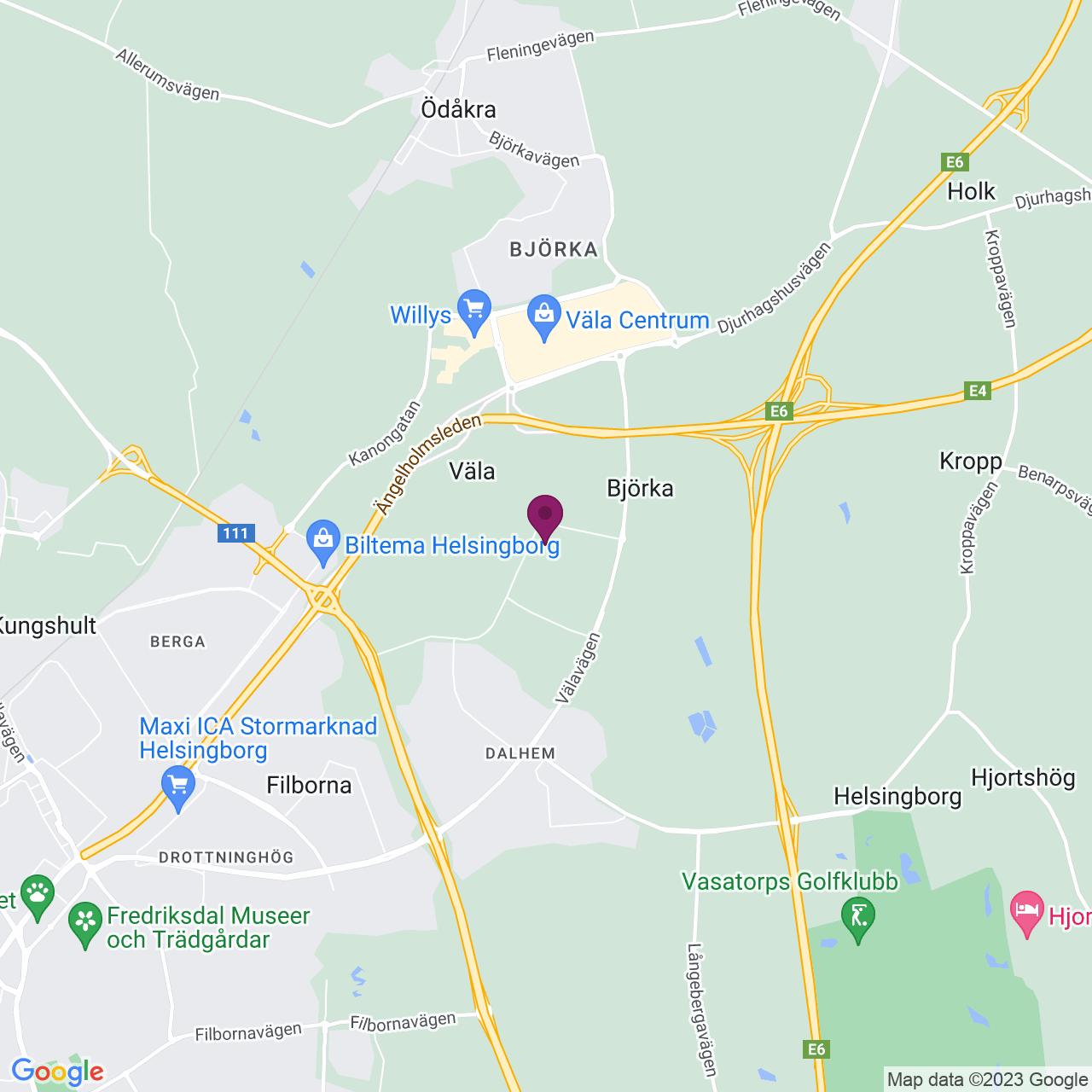 Karta över Diabasgatan 1