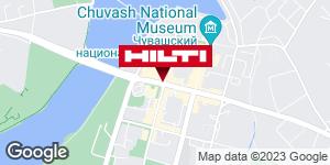 Get directions to Региональный представитель Hilti в г. Чебоксары