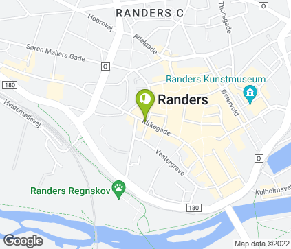 Map of Kirkegade 13A in Randers