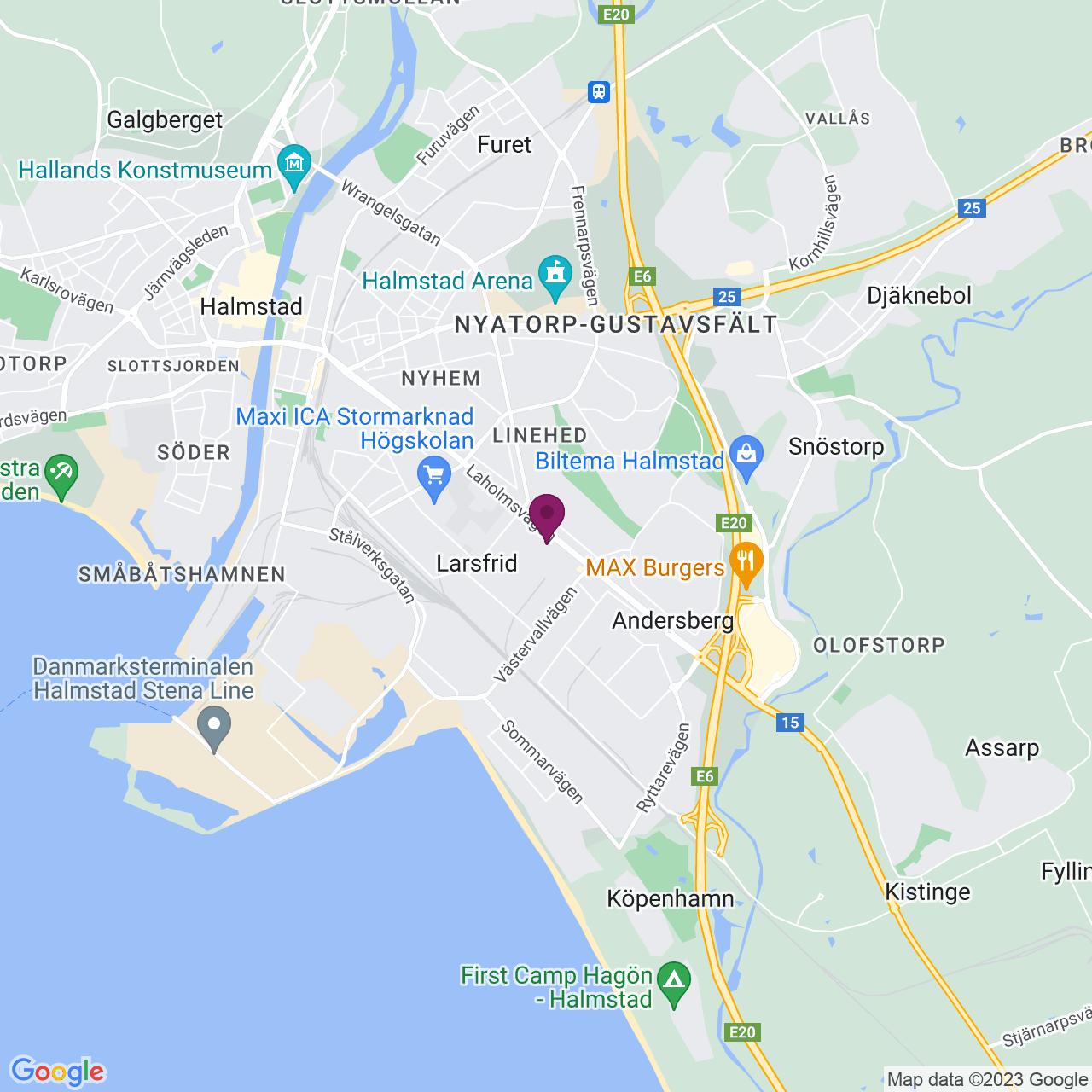 Kort över Laholmsvägen 84