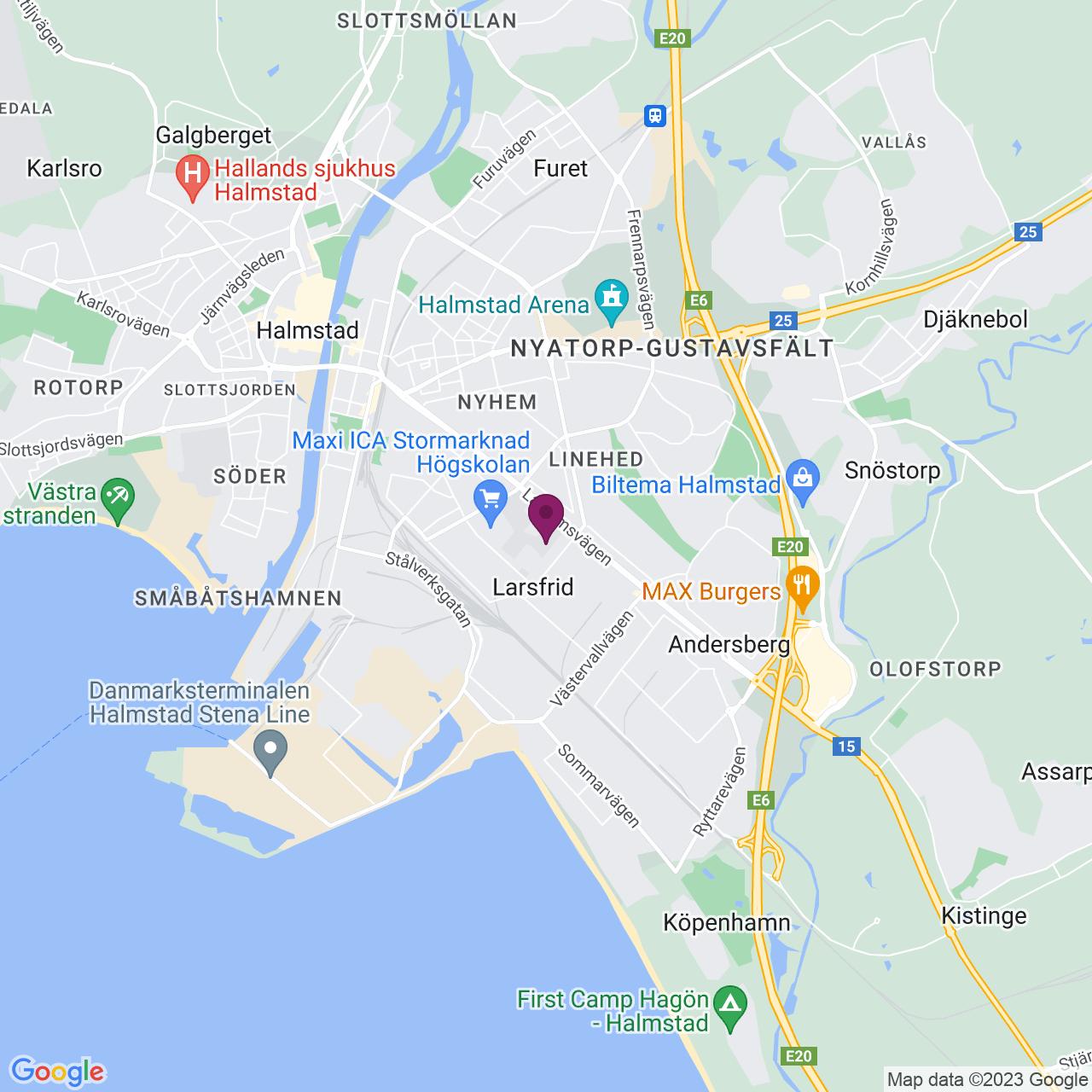 Kort över Linjegatan 5-7