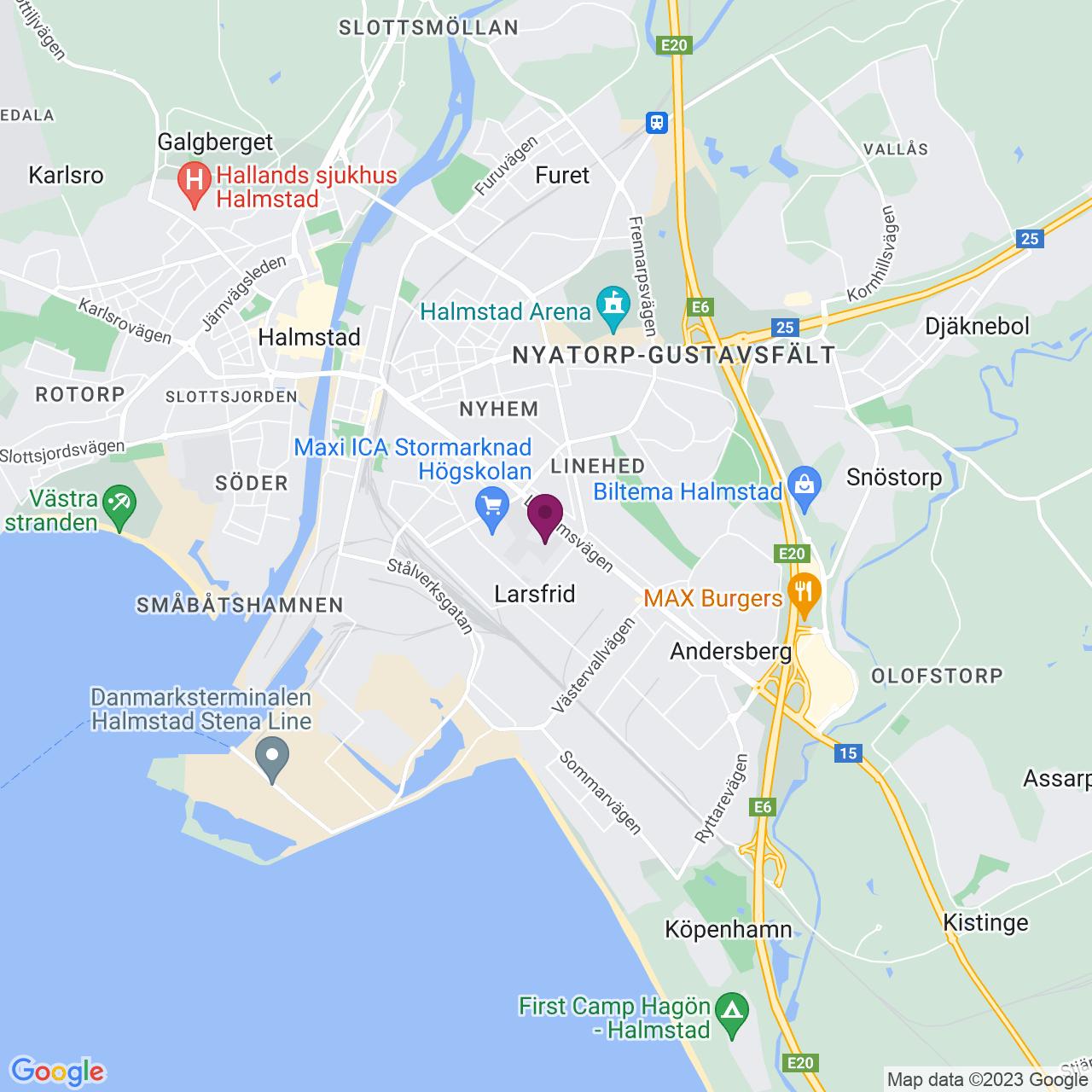 Kort över Linjegatan 7
