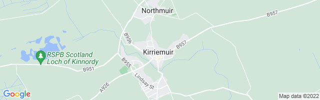 Map Of Kirriemuir