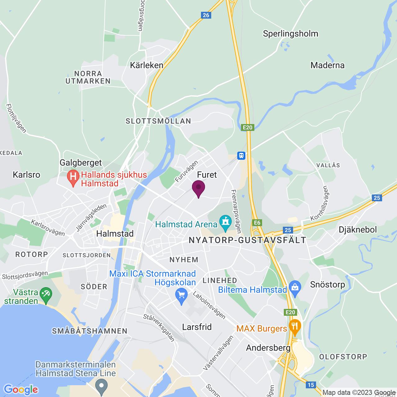 Karta över Karl Ifvarssons gata 40