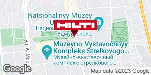 Get directions to Региональный представитель Hilti в г. Ижевск