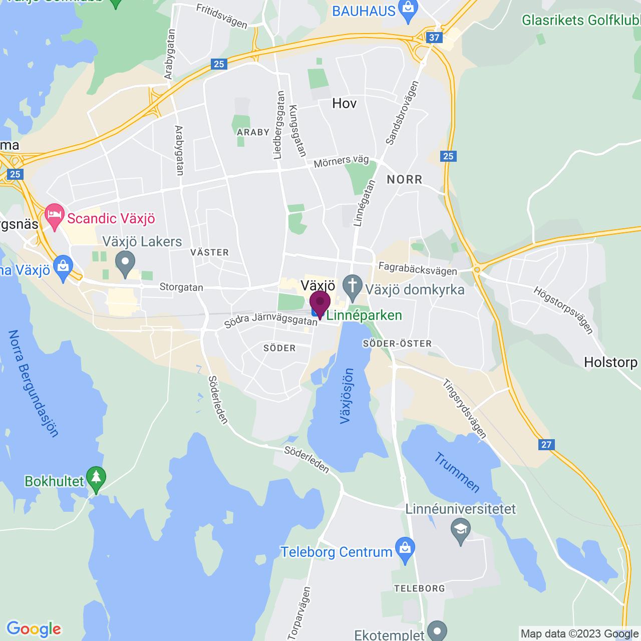 Karta över Södra Järnvägsgatan 4A