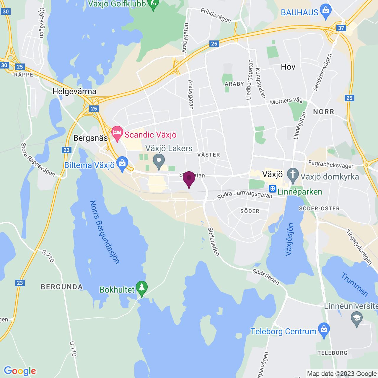 Kort över Industrigatan 9