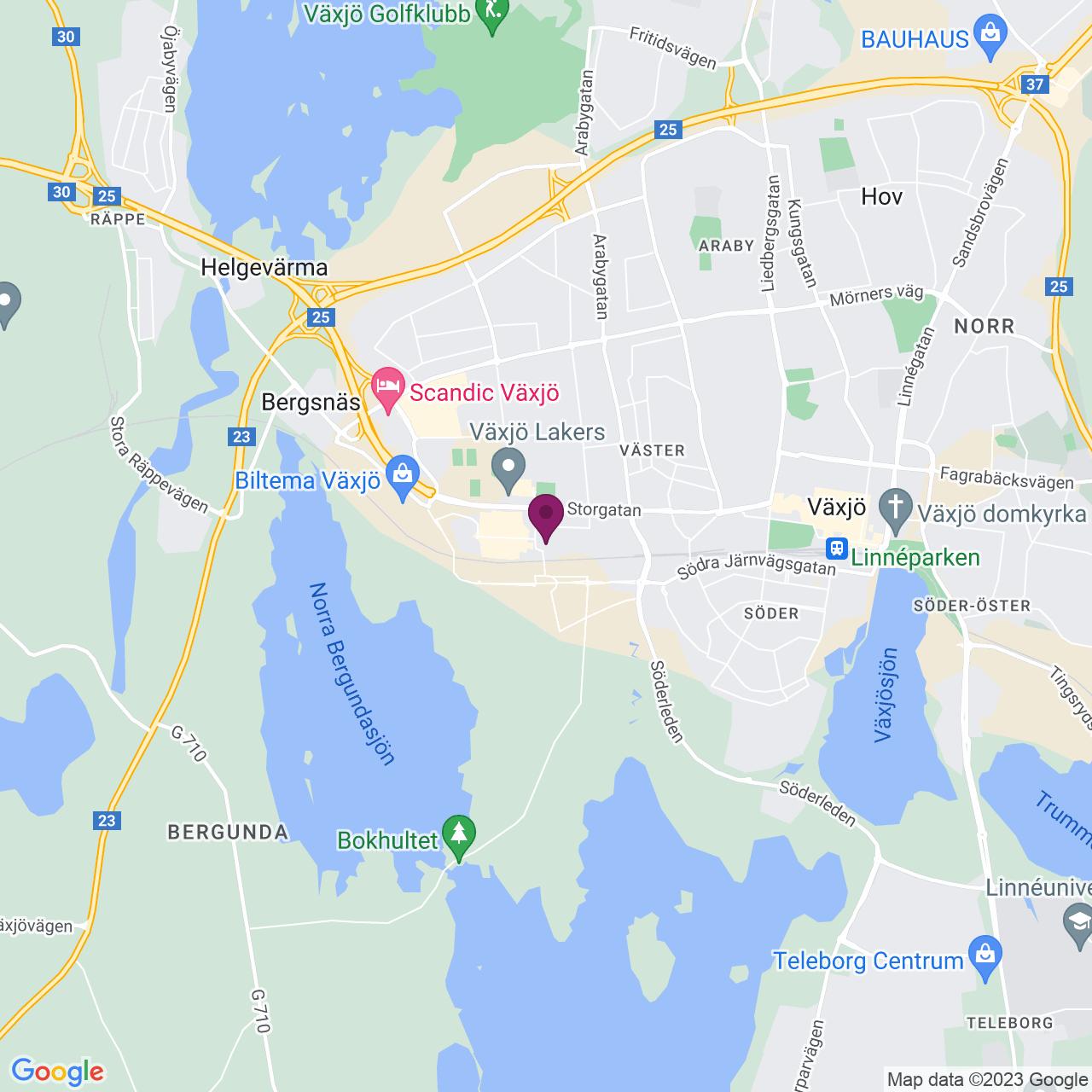 Kort över Taptogränd 14