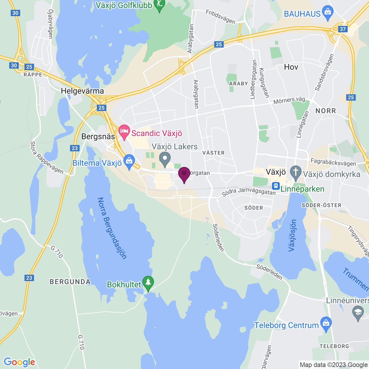 Kort över Reveljgränd 8