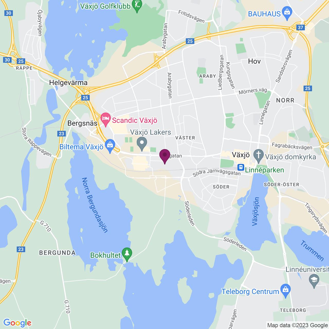 Kort över Reveljgränd 5