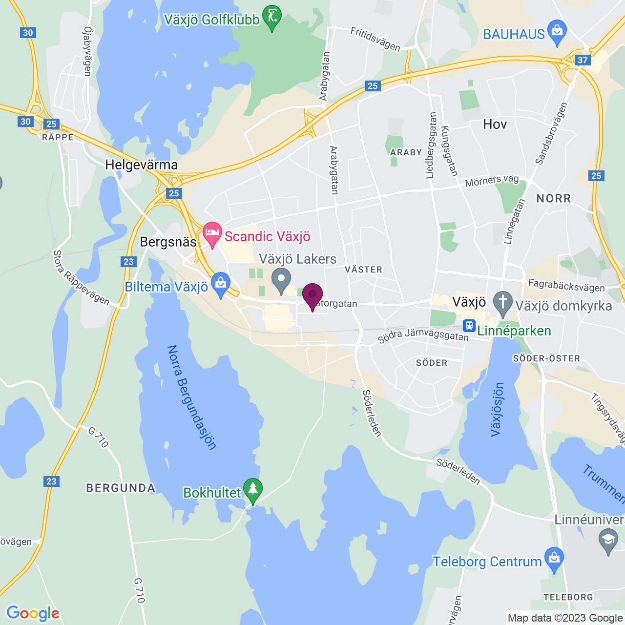 Kort över Honnörsgatan 16