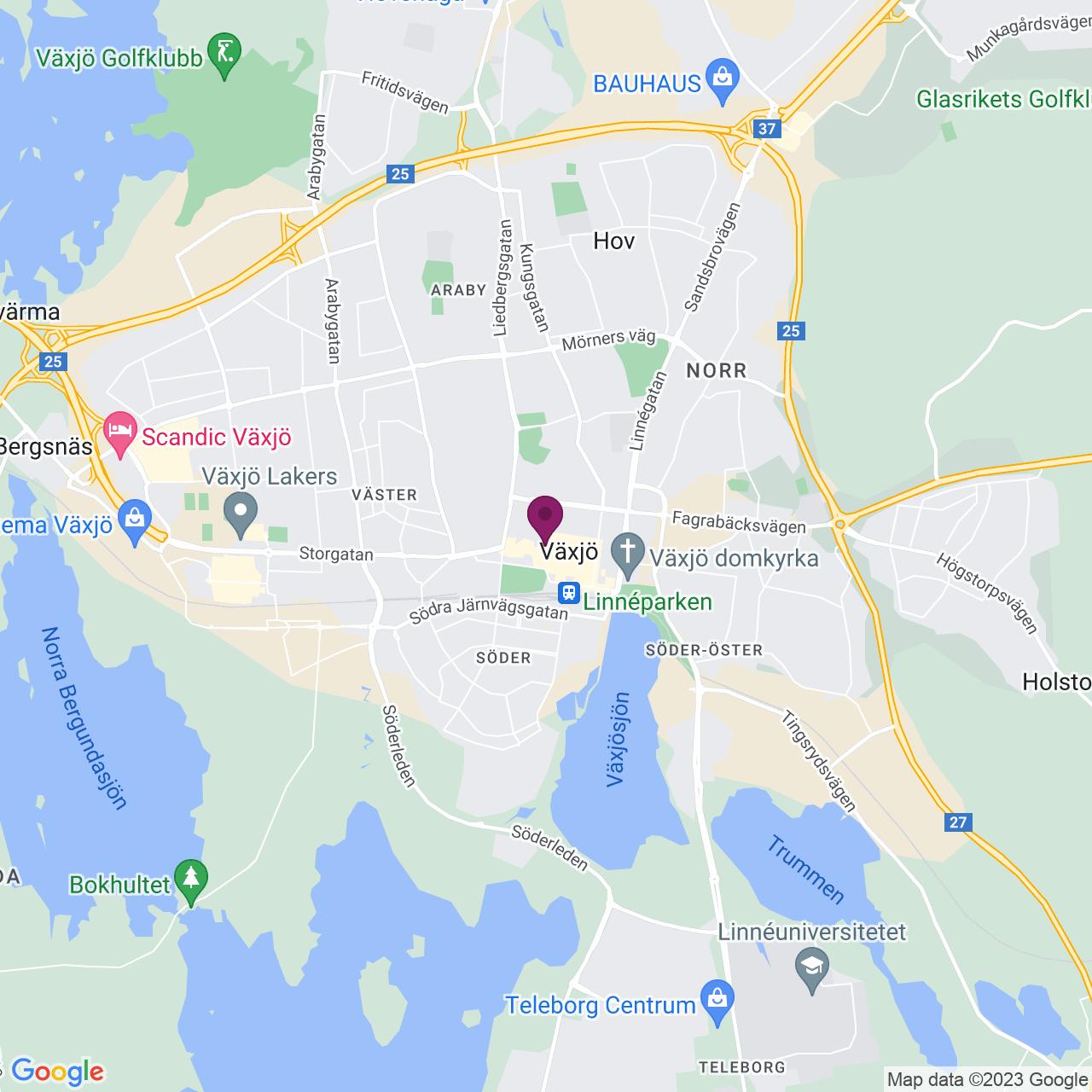 Karta över Storgatan 26