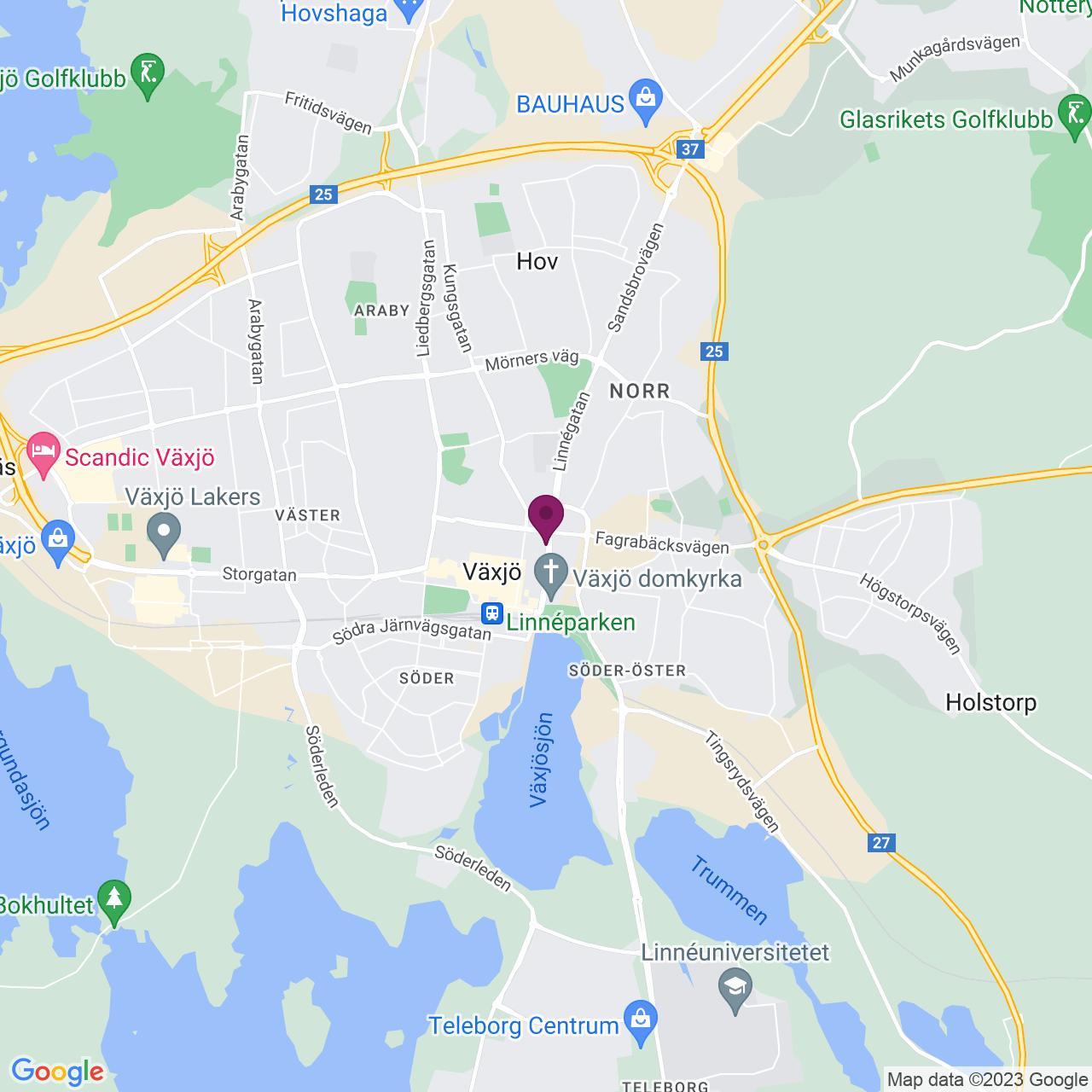 Karta över Linnégatan 23