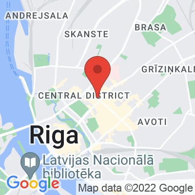 Map showing MiiT Coffee (Lacplesa)