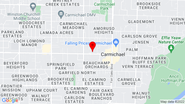 Google Map of 5605 Marconi Ave., Carmichael, CA 95608