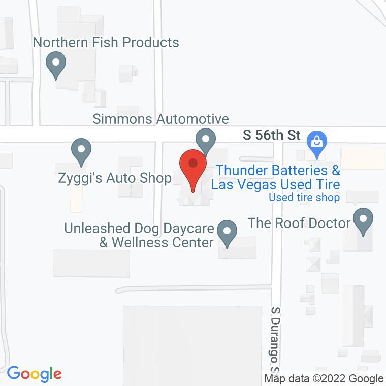 Google Map of 5608 South Durango St, Tacoma, WA 98409, 5608 South Durango St, Tacoma, WA 98409