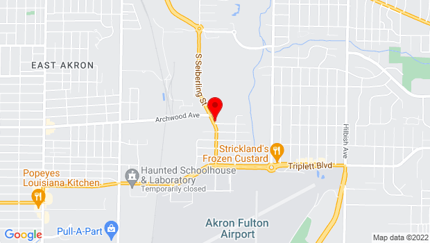 Google Map of 561 South Seiberling St, Akron, OH 44306