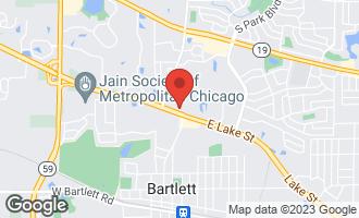 Map of 561 Deere Park Circle BARTLETT, IL 60103