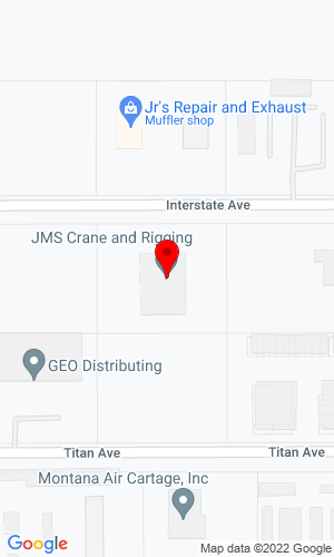 Google Map of Strong's Crane Service 5610 Interstate Avenue, Billings, MT, 59101