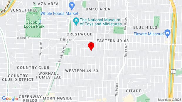 Google Map of 5612 Charlotte St, Kansas City, MO 64110