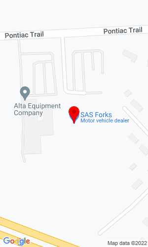 Google Map of Alta Equipment Company 56195 Pontiac Trail, New Hudson, MI, 48165