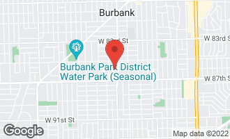 Map of 5620 West 86th Street Burbank, IL 60459