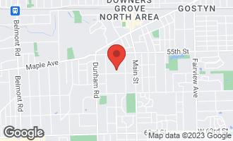Map of 5629 Brookbank Road DOWNERS GROVE, IL 60516