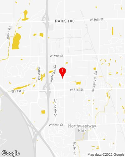 Google Map of 5643 W 74th St, Indianapolis, IN 46278
