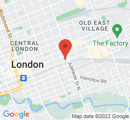 Google Map of 566+York+Street%2CLondon%2COntario+N6B+1R7