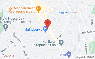 Map of 56a-58a Warwick Road, Kenilworth, UK