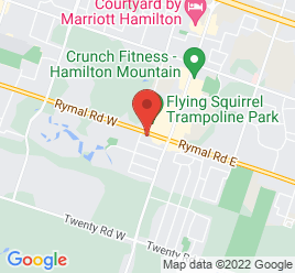 Google Map of 57+Rymal+Road+West%2CHamilton%2COntario+L9B+1B5