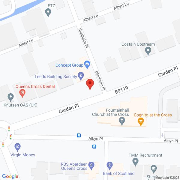 Aberdeen Office map
